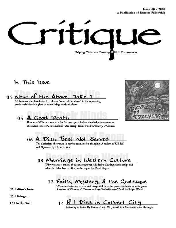 Critique – Ransom Fellowship
