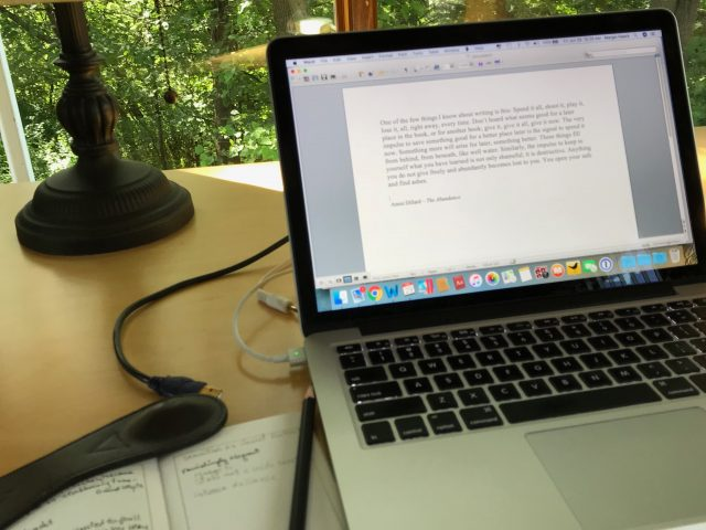 Writing with interruptions