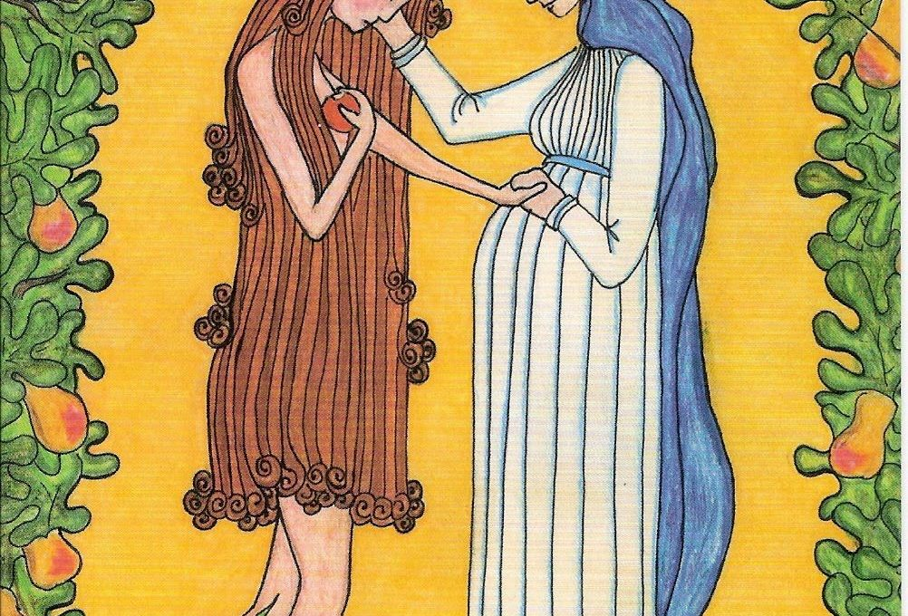 Mary comforts our Mother Eve