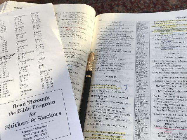 Bible Reading Program Redo